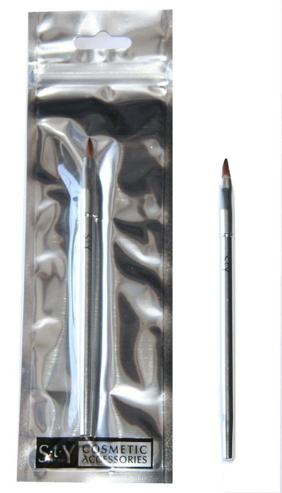 12 x S.T.Y. Designs Lip Brush | 15cm Long | Foil Packaged | Wholesale Cosmetics